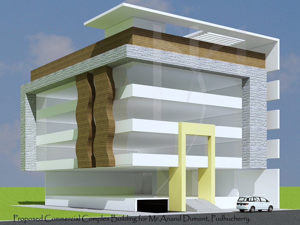 Front elevation for commercial buildings joy studio for Building front design