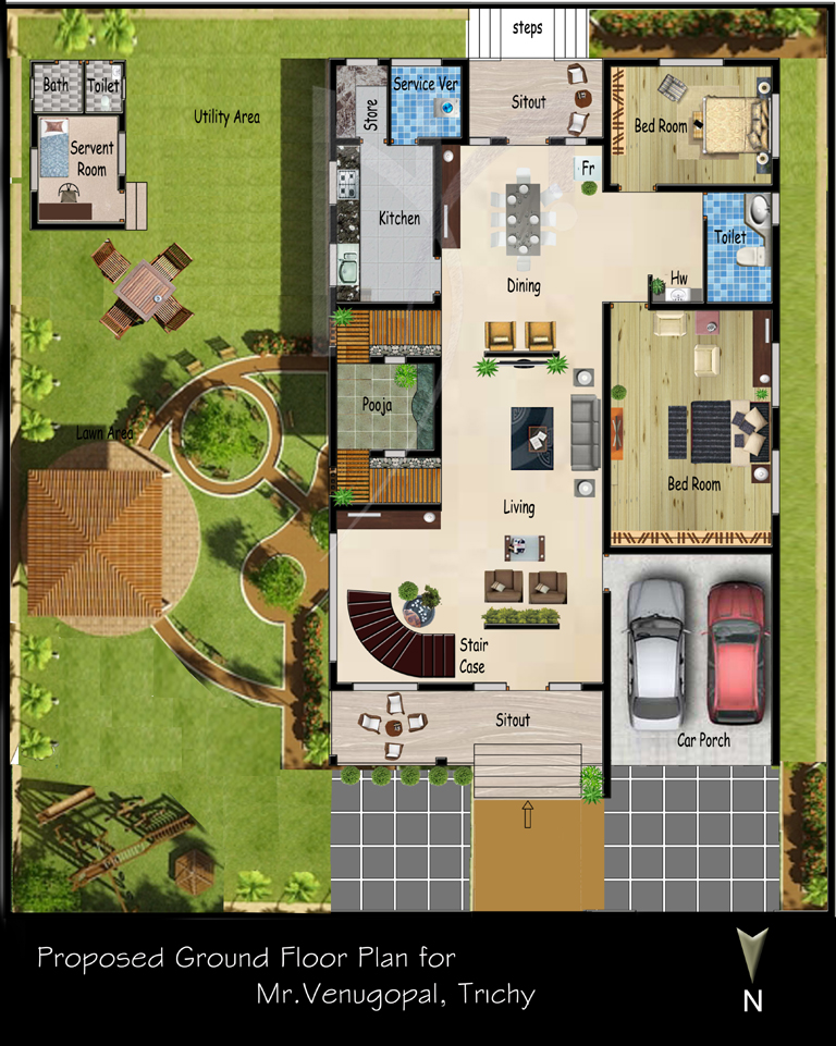 Chettinad Style House Plans