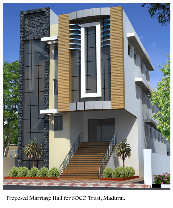Marriage Hall Front Elevation Images : Marriage hall design front elevation images goteti